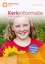 Kerkinformatie nr. 183, juli/augustus 2010 - Kerk in Actie