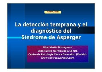 La detección temprana y el diagnóstico del Síndrome de Asperger