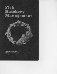 Fish Hatchery Management - fisheries & aquaculture