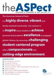 ASPect 6fev 15h30.indd - American School of Paris