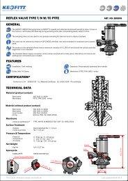 KEOFITT REFLEX™ pneumatic valve - tank welding