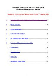 People's Democratic Republic of Algeria Ministry of Energy and Mining