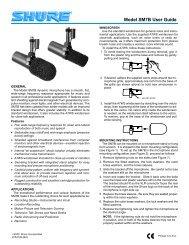 Model SM7B User Guide