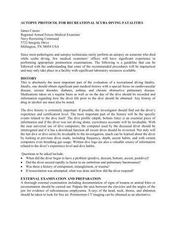 Autopsy Protocol PDF - Divers Alert Network