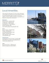 Area Amenities & Services - Merritt 7