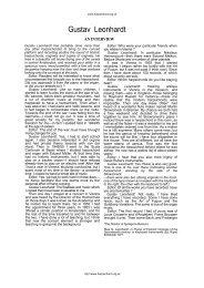 An Interview with Gustav Leonhardt