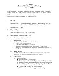 MINUTES Board of Education · Special Meeting April 17, 2012