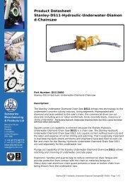 Product Datasheet: Stanley-DS11-Hydraulic-Underwater-Diamond ...