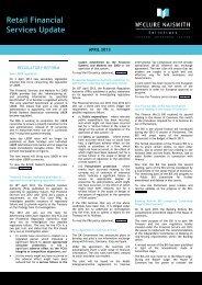 RFS Newsletter April 2013 - McClure Naismith