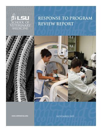 response to program review report - LSU School Of Veterinary ...