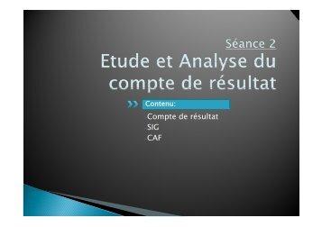 C d é l -Compte de résultat -SIG -CAF