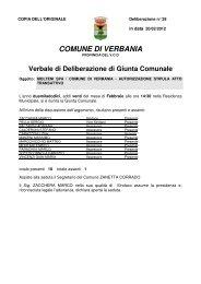 autorizzazione stipula atto transattivo - Comune di Verbania