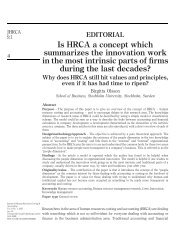 Is HRCA a concept which summarizes the innovation work in the ...