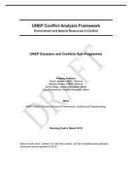 UNEP Conflict Analysis Framework - Disasters and Conflicts - UNEP
