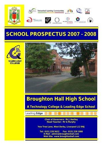 Prospectus 2007 to 2008.pub - Broughton Hall High School
