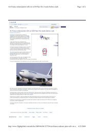 Page 1 of 2 Air France ordered pitot refit on A330 fleet five weeks ...