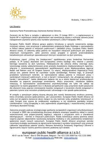 european public health alliance a.i.s.b.l.