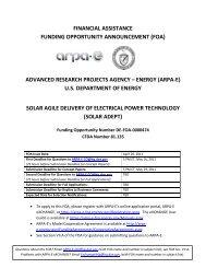 FOA 0000474 Solicitation - Florida Energy Systems Consortium