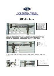 GF-Jib Manual - Telescopic Camera Cranes
