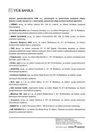 Zoznam sprostredkovateľov VÚB, a.s., poverených na ... - VÚB banka