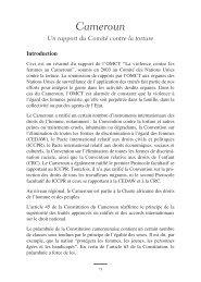 Caméroun - World Organisation Against Torture