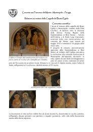 Perugia Relazione sui restauri della Cappella del Beato ... - OFM