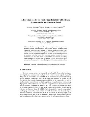A Bayesian Model for Predicting Reliability of ... - Seattle University