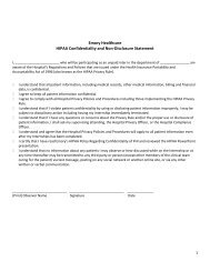 Consent to Personal Records and History Release Form - Emory ...