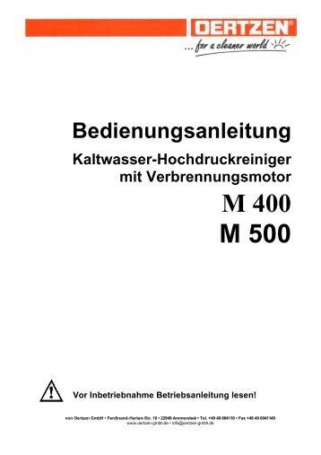 M 400 M 500 - von Oertzen GmbH