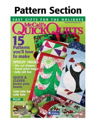 Pattern Section - McCalls Quilting