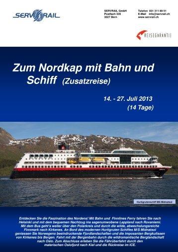 Zum Nordkap mit Bahn und - SERVRail