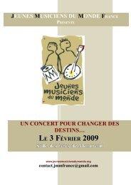 JEUNES MUSICIENS DU MONDE FRANCE UN ... - Kiagi.org