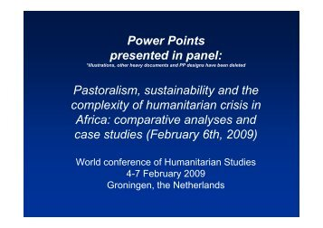 Pastoralism, sustainability and the complexity of ... - Cultura21