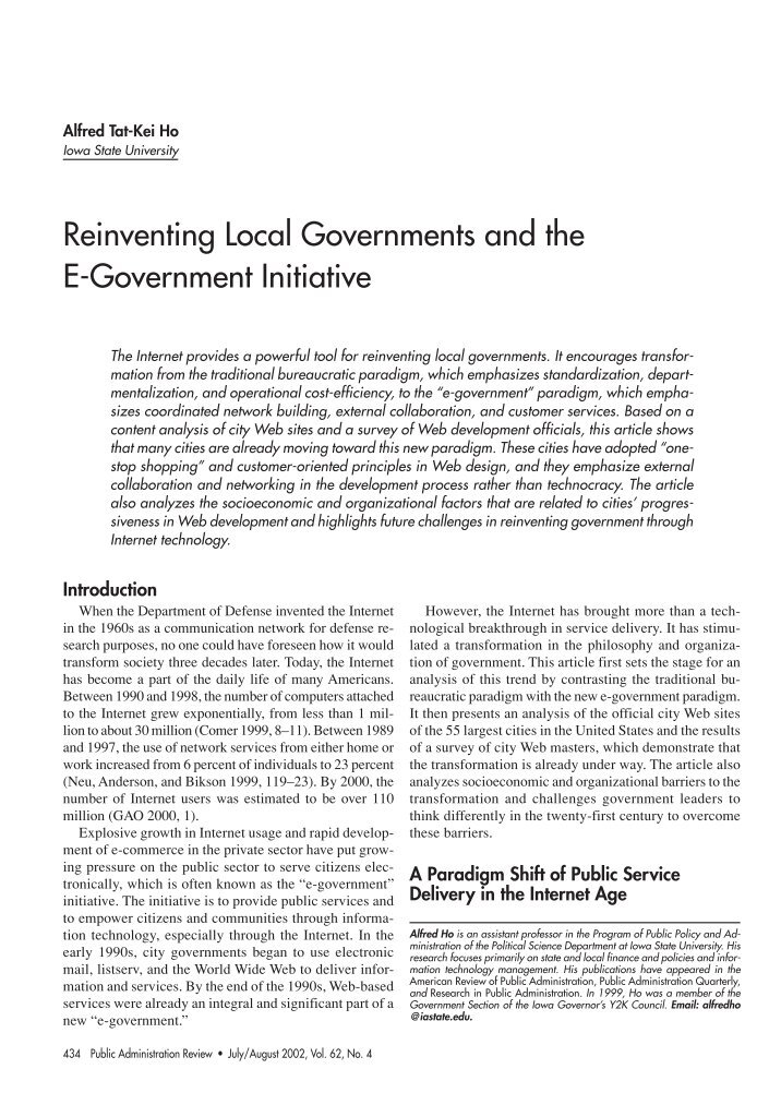 an analysis of reinventing government a book by ted gaebler and david osborne Reinventing government: how the entrepreneurial spirit is transforming the public sector (plume) [david osborne, ted gaebler] on amazoncom free shipping on qualifying offers a landmark in the debate on the future of public policy.