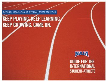 NAIA Guide for International Students. - NetScouts Basketball