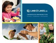 Corporate SoCial reSponSibility 2012 - Land O'Lakes Inc.