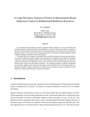 A Large Deviation Analysis of Errors in Measurement Based ...