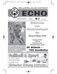86551 Aichach Telefon 0 82 51 - BC Aichach