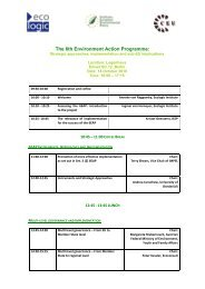 Reviewing the 6th Environment Action Programme ... - Ecologic Events