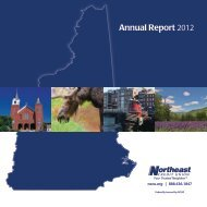 2012 NECU Annual Report - Northeast Credit Union