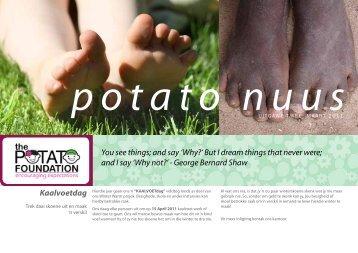 Maart Nuusbrief - Uitgawe 2 - The Potato Foundation