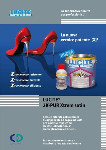 LUCITE® 2K-PUR Xtrem satin - CD-Color GmbH & Co.KG