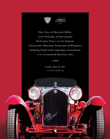 2012 Concours Program Book - City of Beverly Hills