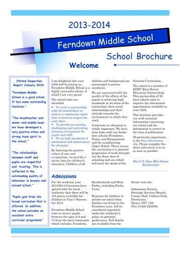 School brochure 2013-2014 - Ferndown Middle School
