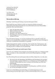 Unsere Datenschutzerklärung (PDF) - Autohaus Franz Beck KG