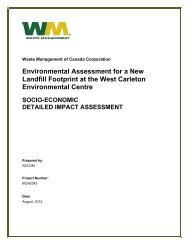 Socio-Economic - West Carleton Environmental Centre - Waste ...