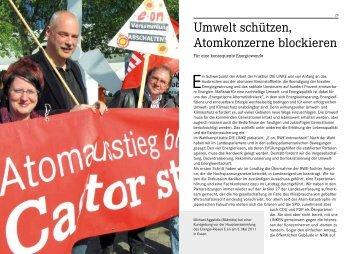 Umwelt schützen, Atomkonzerne blockieren - Die Linke NRW