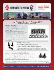 New Product Release – February 2011 - Interstate McBee