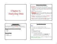 Chapter 6. Analyzing Data