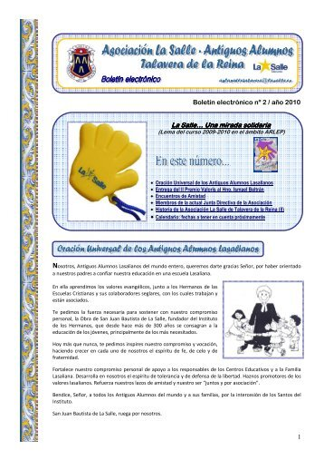 nº 2 e-boletín asociación la salle - talavera - La Salle Distrito ARLEP